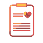 [image graphic of a clipboard with a heart on it]