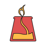 image graphic of beaker with a flame coming out of the top