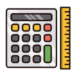 Image of a calculator and ruler
