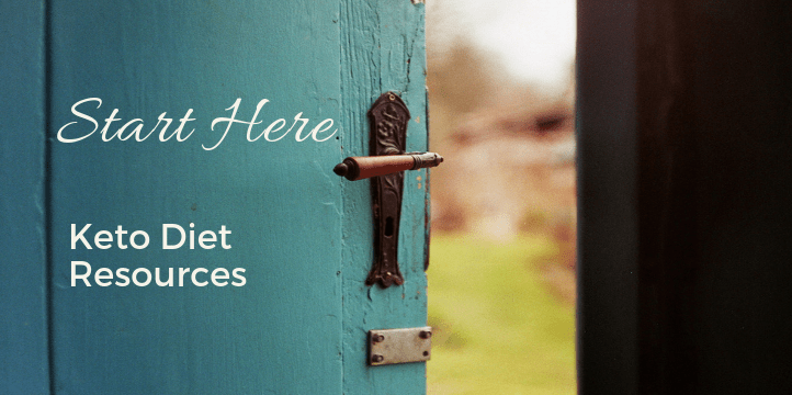 """image of a door being opened to the outside. Text reads """"start here"""" """"Keto Diet Resources"""""""