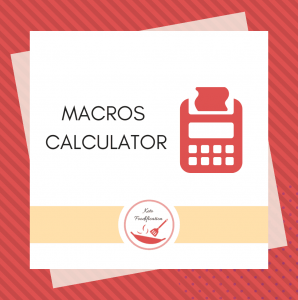 Image of a calculator. Text reads macros Calculator