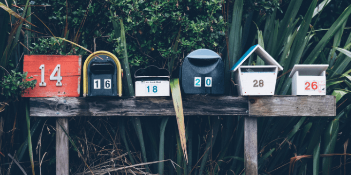 image for subscribe to keto foodification is a row of different sized and colored mail boxes all lined up in a row.