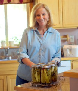 Image of Keto Foodification Author Shari standing in a kitchen