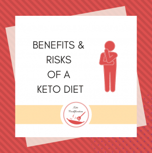 text reads- benefits and risks of a keto diet, Keto Foodification
