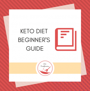 Text reads keto diet beginner's guide