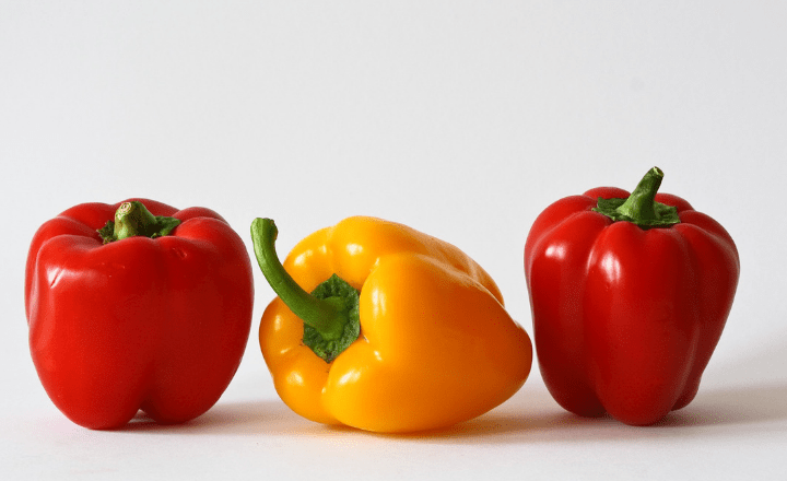 Image of red and yellow bell peppers