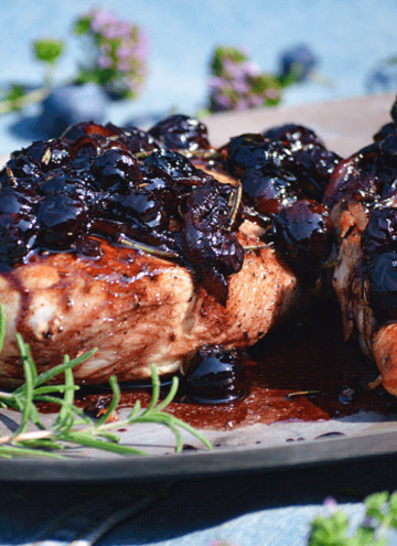 Image of keto blueberry balsamic chicken